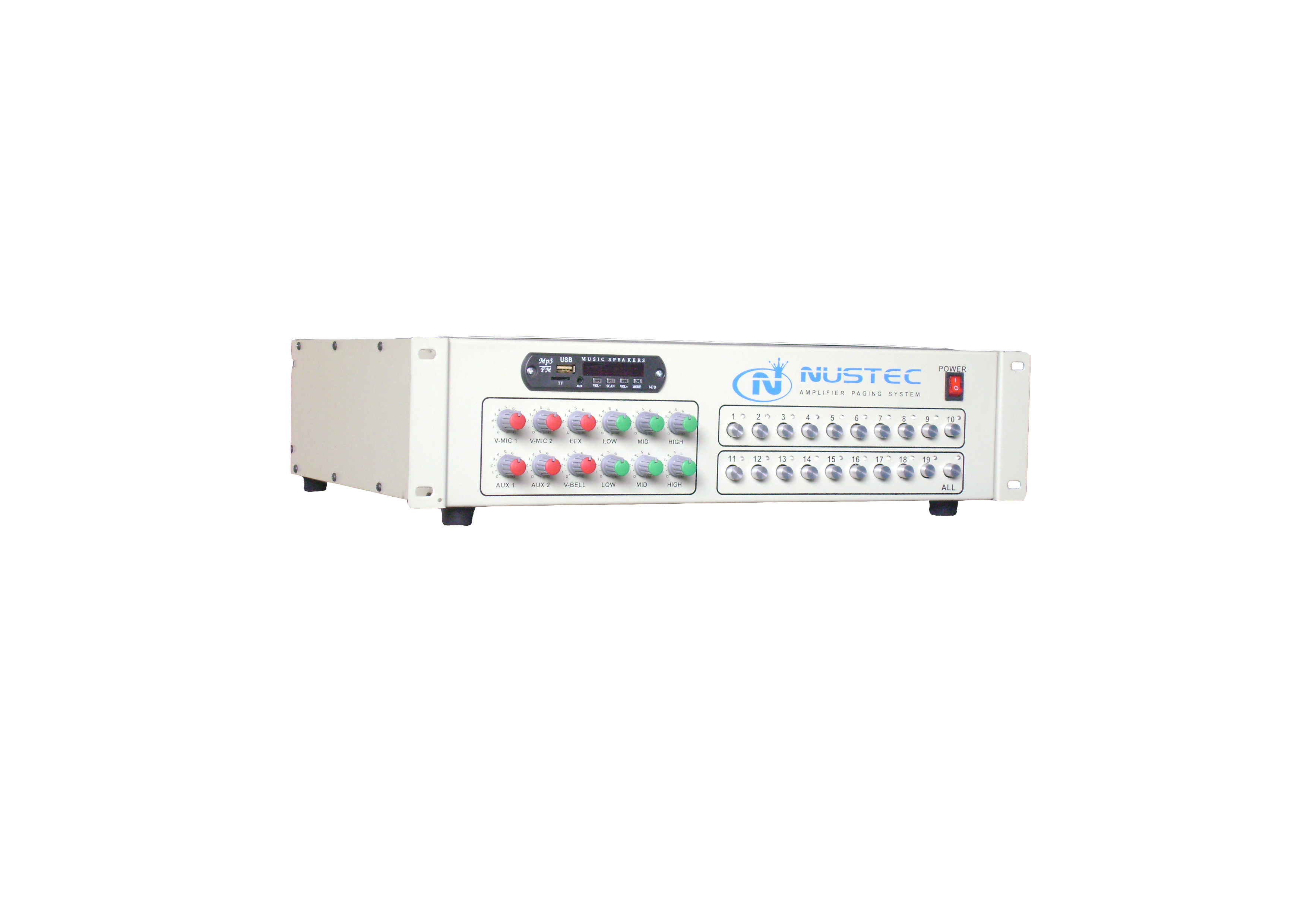 Master Amplifier Paging system 20 Chanell