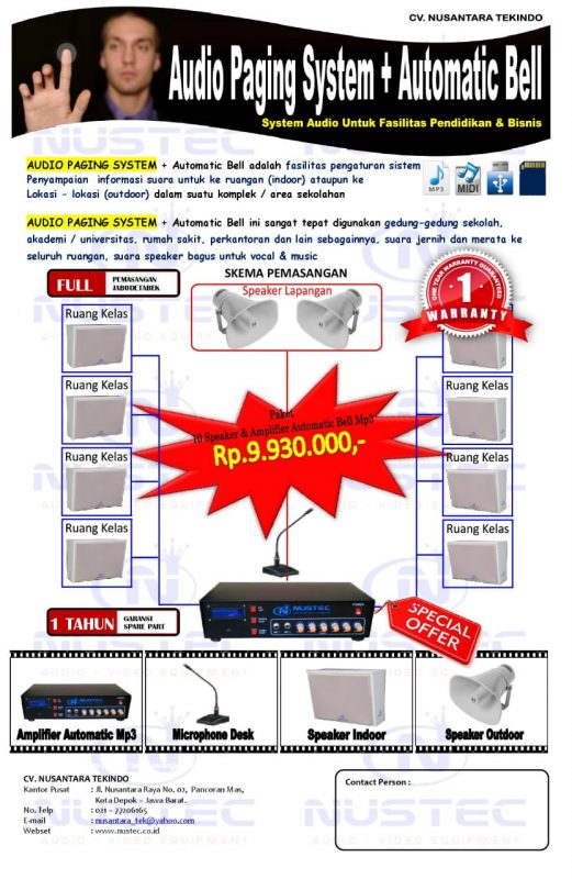 Paket Promo Audio Paging Sistem